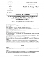 ARR2038 TRAVAUX FIBRE – RUE DU PARC