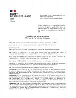 Arrêté préfectorale du 30 octobre 2020